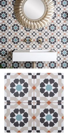 Use these geometric, porcelain tiles to create a vibrant feature area in your home. Trellis Marrakesh tiles are have a colourful arabesque style design, remeniscent of a kaleidoskope;  making a great statement floor or wall in your chosen room. These tiles are pre-score tile and have an anti-slip surface. As part of our Trellis Tile collection, they have a soft matt finish and are suitable for all areas throughout your home - whether you're tiling the kitchen, living room, en suite or…