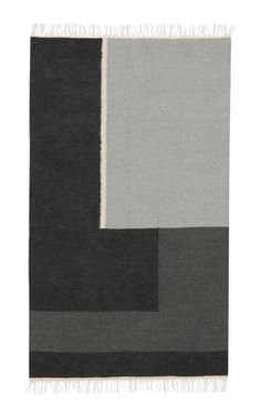 Kelim Section Rug - / Small - 140 x 80 cm Small - Black & White by Ferm Living - Design furniture and decoration with Made in Design