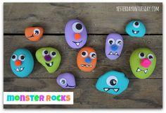 Monster Rocks #halloweencrafts #rockcrafts #yesterdayontuesday