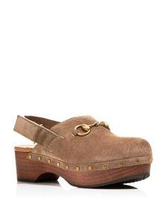 GUCCI Amstel Suede Clogs. #gucci #shoes #clogs