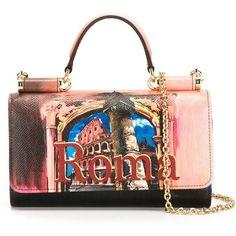 Dolce & Gabbana mini 'Von' wallet crossbody bag ($990) ❤ liked on Polyvore featuring bags, handbags, shoulder bags, multicolour, crossbody handbags, leather handbags, mini crossbody, chain shoulder bag and leather crossbody