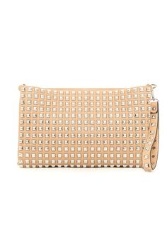 Abigayle Studded Oversize Clutch In Tan