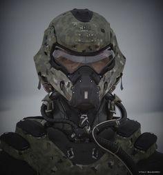 Pilot-Operator by Vitaly Bulgarov on ArtStation. Armadura Cosplay, Tactical Helmet, Futuristic Armour, Sci Fi Armor, Suit Of Armor, Body Armor, Future Soldier, Tac Gear, Cosplay Armor