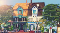 The Sims 4 creations by agathea The Sims 4 Pc, Sims Cc, Casas The Sims 4, Sims Ideas, Sims 4 Build, The Sims4, Sims House, Presents, Design Ideas