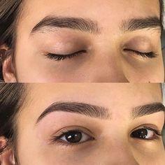Thick Brows, Natural Eyebrows, Natural Makeup, Thick Eyebrow Shapes, Arched Eyebrows, Eyebrow Makeup Tips, Eye Makeup Art, Beauty Makeup, Permanent Makeup Eyebrows