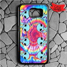 Tie Dye Color Alien Samsung Galaxy S6 Black Case