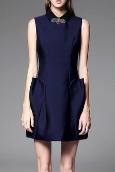 POKWAI -  Mini Sleeveless Tulip Dress