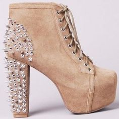 Jeffrey Campbell Lita Spike Taupe Suede