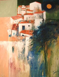 Casale Painting by Luigi Torre Abstract Art Painting, Colorful Art, Art Painting, Abstract Painting, Painting, Art, Painting Crafts, Architecture Painting, Building Art