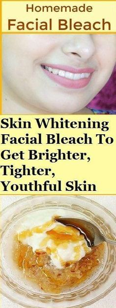 This is an amazing home remedy which is a natural facial bleach that helps you whiten your skin easily at home. This bleach has no harmful chemicals and does wonders for your skin, it brightens and lightens your skin tone just within 15 days. Natural Skin Whitening, Whitening Face, Natural Bleach, Natural Facial, Natural Makeup, Natural Beauty, Skin Care Regimen, Skin Care Tips, Beauty Regimen