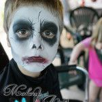 Zombie Face Painting For Boys ~ Cairns Makeup Artist Dana Harris