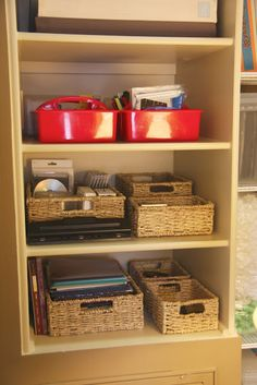 Look at cabinets in master bedroom closet picture on this blog.