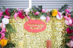 Precioso este fondo de Photocall para fiesta Hawaiana!