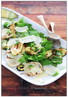 burnt fennel & zucchini salad by jules:stonesoup, via Flickr
