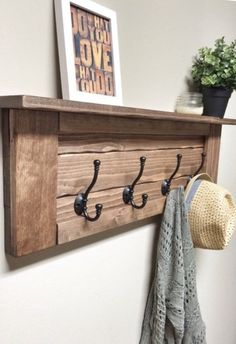 Wooden Entryway Coat Rack with Hooks, Rustic Wooden Shelf, Entryway Rack, Coat Rack, Coat Rack Shelf Entryway Coat Rack, Diy Coat Rack, Rustic Coat Rack, Coat Rack Shelf, Wooden Coat Rack, Wall Mounted Coat Rack, Coat Racks, Rustic Wooden Shelves, Wooden Wall Hooks