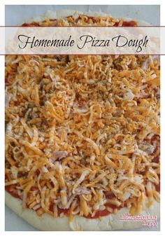 Homemade pizza in less time than it takes to get it delivered!  Yes, it's possible! And so much tastier than store bought!