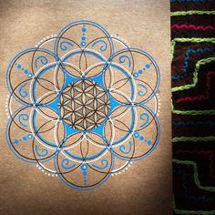 Sacred Geometry Mandala Art by KrystalKrow on Etsy