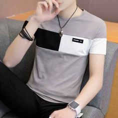 Casual T Shirts, Casual Outfits, Tee Shirts, Men Casual, Mens Summer T Shirts, Top Streetwear, Le Polo, Basic Tops, Shirt Price