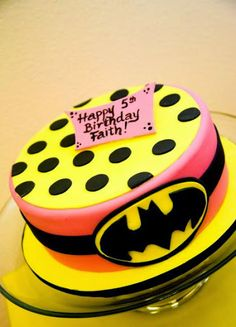 Check out my post on Batman™/Batgirl Party: Part 1 to see the invites and how this Batman™/Batgirl party got started. Our party started a. Batman Birthday Cakes, Batman Cakes, Superhero Birthday Party, Star Wars Birthday, Birthday Parties, Cake Birthday, Birthday Ideas, Happy Birthday, Birthday Celebrations