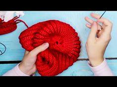 Шапка БИНИ спицами ТРЕНД / Шапка резинкой/ Вязание Knit Mom - YouTube