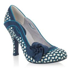 Ruby Shoo ISSY (Blue Floral) - I think I'm in love!
