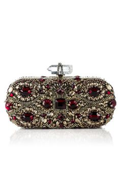 Marchesa - Lily Embroidered Clutch