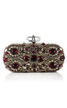 Marchesa baroque jewel-encrusted clutch. ❦