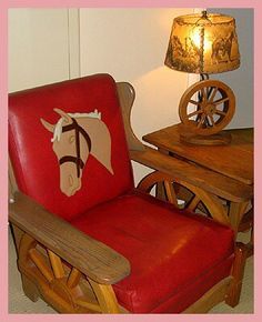Wagon Wheel Furniture From The 1950 39 S Kool Kitsch For Sale On Ebay No Pattern Required