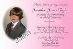 Communion Cross Invitations PINK - Digital Download - Get these invitations RIGHT NOW. Design yourself online, download and print IMMEDIATELY! Or choose my printing services. No software download is required. Free to try! Holy Communion Invitations, Christening Invitations, Photo Invitations, Pink Invitations, Baptism Photos, Printing Services, Baby Names, Catholic, Color Schemes