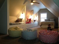 This bonus room screams sleepovers!!! :)