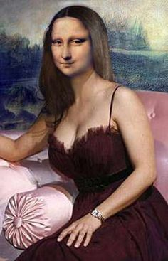 Lisa on the Sofa Mona Lisa -More Pins Like This At : FOSTERGINGER @ Pinterest.