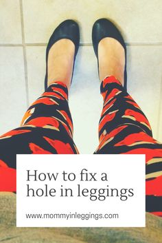 How I fixed a hole in my leggings. Don't waste money, live frugal and repair those pants!