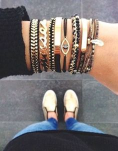 Arm candy bracelets http://www.justtrendygirls.com/arm-candy-bracelets/