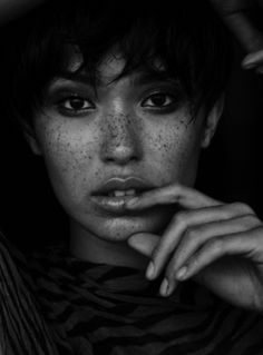 Freckles.  Can't resist them. Love 'em, have 'em, am very attracted to them!