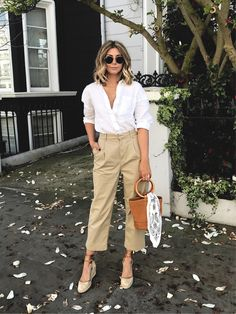 gorgeous cropped wide leg chinos