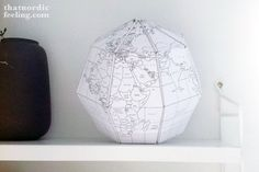 DIY paper globe via that nordic feeling