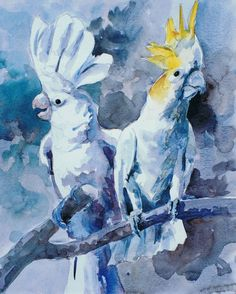 Brian  Baxter:  Cockatoos Cockatoo, Birds, Painting, Art, Art Background, Bird, Painting Art, Paintings, Kunst