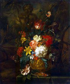 Хейсум, Юстус ван - Цветы. часть 13 Эрмитаж. Описание картины, скачать репродукцию.