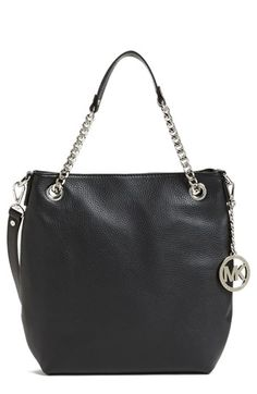 MICHAEL Michael Kors 'Jet Set Chain - Medium' Leather Convertible Shoulder Bag available at #Nordstrom