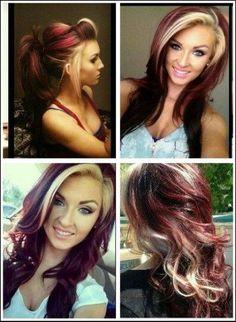 31 trendy Ideas for hair color mahogany brown products Hair Color And Cut, Cool Hair Color, Hair Color Techniques, Hair Color Highlights, Fall Hair, Hair Looks, Short Hair Cuts, Dyed Hair, Curly Hair Styles
