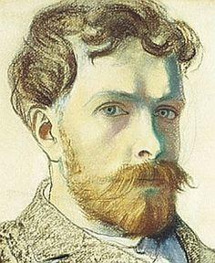 Stanisław Wyspiański (Polish, 1869-1907) 'Autoportret', 1903 - detal