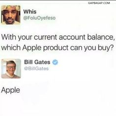 Funny Tweets About Bill Gates vs. Apple
