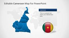 The Editable Cameroon PowerPoint Map is a professional presentation that contains several versions of the political outline map of the Republic of Cameroon. Professional Presentation, Professional Tools, Map Background, The Republic, Text You, Business Travel, Outline, Tourism, Politics