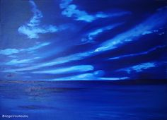 BLUE ANGELS II, oil on canvas, 50x70cm, 2011 Blue Angels, Art Series, Angel Art, Oil On Canvas, Waves, Clouds, Outdoor, Outdoors, Ocean Waves