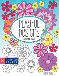 playful designs coloring book 18 fun designs see how colors play together creative - Walmart Coloring Books