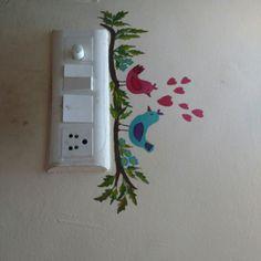 Henna Kolkar, switch board painting Interior Decorating, Interior Designing, Diy Interior, House Front Wall Design, Wall Painting Decor, Painted Boards, Chalk Art, Paint Designs, Holiday Crafts