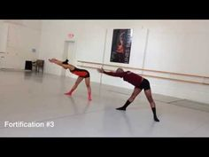 Flat Backs Series Variation with Hinges (Horton Technique) Choreography for Modern Dance Class - YouTube