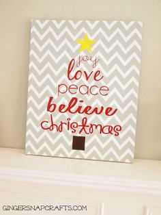 Super Easy {knock off} Christmas Art Project