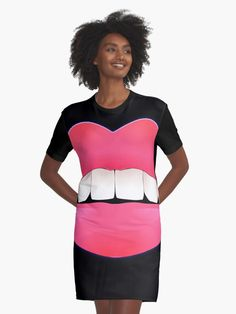 'Sexy Lips - White Teeth - Pink Lipstick - Best gift for her' Graphic T-Shirt Dress by BestStuffDepot Best Gifts For Her, Crazy Outfits, Dress Clothes For Women, White Teeth, Classy Dress, Amazing Things, Elegant Dresses, Designer Dresses, Chiffon Tops
