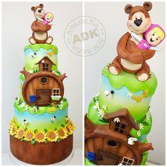 Masha and the bear cake - Bolo Masha e o Urso